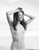 Nude woman on the beach Royalty Free Stock Images