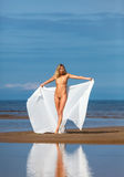 Nude woman on the beach Royalty Free Stock Photography