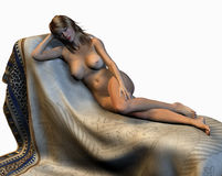 Nude Woman Reclining Royalty Free Stock Photo