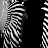 Nude woman sexy Artistic black and white photo Stock Image