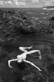 Nude woman in water. Royalty Free Stock Photography