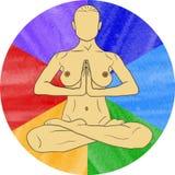 Nude yoga Stock Image