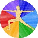 Nude yoga Stock Photo