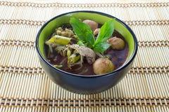 Nudel des traditionellen thailändischen Lebensmittels stockbilder