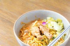 Nudel Khao soi, siamesische Nahrung Stockfotos