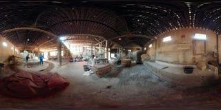 Nudelfabrik in Bantul, Yogyakarta, Indonesien vr360 stock footage