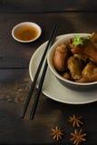 Nudillos cocidos deliciosos del cerdo Foto de archivo libre de regalías