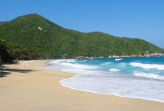 Nudist Beach, Tayrona national park, Colombia Stock Photos