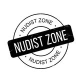 Nudist Zone rubber stamp Royalty Free Stock Images