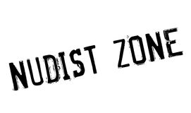 Nudist Zone rubber stamp Royalty Free Stock Photos