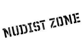 Nudist Zone rubber stamp Royalty Free Stock Photo