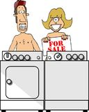 Nudistes Photographie stock