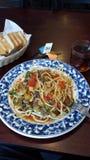 Nudlar för lunch Royaltyfri Foto