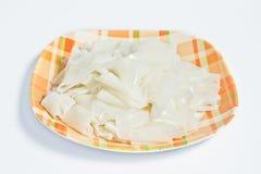 Nudlar för vita ris på maträtt Royaltyfria Foton