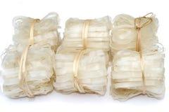 Nudlar som göras från ris, rismjöl Royaltyfria Bilder