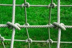 Nudo atado en cuerda Fotos de archivo