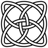 Nudo céltico del trébol en el símbolo Irlanda del círculo, el símbolo del símbolo del vector del infinito, de la longevidad y de  libre illustration