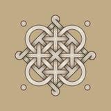Nudo céltico - grabado - sola cadena - lazos imagen de archivo libre de regalías
