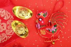 Nudo chino de la tradición: Gallo de la muñeca del paño Fotografía de archivo libre de regalías