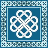 Nudo de amor céltico, símbolo de la buena fortuna, ejemplo del vector Imagen de archivo libre de regalías
