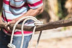 Nudo de la cuerda Fotos de archivo