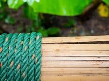 Nudo de la cuerda con el bambú fotos de archivo libres de regalías