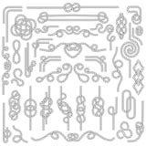 Nudo de la cuerda Cordaje marino con los nudos náuticos Elementos de la decoración de la marina de guerra libre illustration