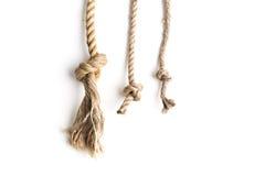 Nudo de la cuerda del yute foto de archivo