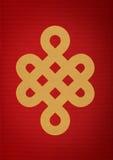 Nudo de Mistic en el papel rojo Imágenes de archivo libres de regalías