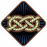 Nudo del marinero Muestra náutica de la cuerda País del movimiento del color de los busines del Internet del Web del recorrido de Imagen de archivo