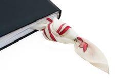 Nudo del pañuelo y diario personal fotografía de archivo