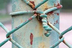 Nudo en la cerca de acero Imagen de archivo libre de regalías
