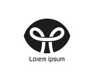 Nudo Logo Design Concept Imágenes de archivo libres de regalías