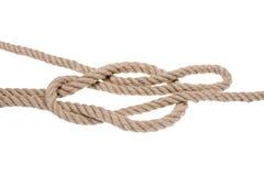 Nudo náutico de la cuerda Fotografía de archivo