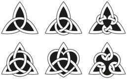 Nudos célticos del triángulo Foto de archivo libre de regalías