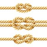 Nudos de la cuerda Imágenes de archivo libres de regalías