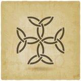 Nudos de la trinidad de la cruz de Carolingian Símbolo céltico ilustración del vector