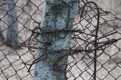 Nudos del hierro en una columna Imagenes de archivo