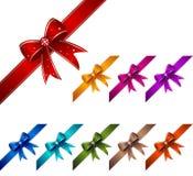 Nudos del regalo fijados Imagen de archivo libre de regalías