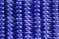 Nudos macros netos del azul de la textura del detalle del barco pesquero Imagen de archivo libre de regalías