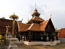 Nuea del sanook del pong de Wat en el lampang, Tailandia imagen de archivo