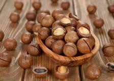 Nueces de macadamia fotos de archivo