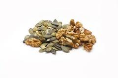 Nueces del nad de las semillas de calabaza Fotos de archivo libres de regalías
