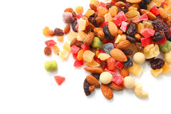 Nueces mezcladas y frutas secas Foto de archivo
