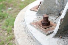 Nueces oxidadas del metal cerradas Foto de archivo