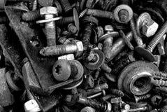 Nueces, pernos y lavadoras Imagenes de archivo