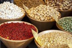 Nueces y frutos secos Foto de archivo libre de regalías