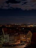 Nuernberg på natten Royaltyfria Foton