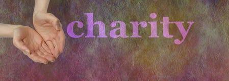 Nuestra caridad necesita su donación fotos de archivo libres de regalías