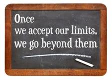 Nuestra cita de los límites Imagen de archivo libre de regalías